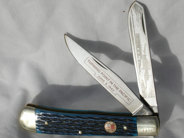 Boker Battle of Midway Commemorative Trapper