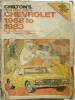 Chilton's Repair & Tune-up Guide Chevrolet 1968 to 1983 $2.95