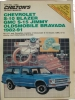 Chilton's Repair Manual Chevrolet S-10 Blazer, GMC S-15 Jimmy, Oldsmobile Bravada 1982-91 $4.95