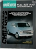 Chilton's General Motors Full-Size-Vans 1967-86 Repair Manual $7.95