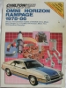 Chilton Repair & Tune-up Guide Omni Horizon Rampage 1978-86 $4.95