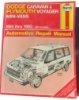 Haynes Dodge Caravan and Plymouth Voyager Automotive Repair Manual $7.95
