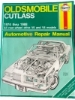 Haynes Oldsmobile Cutlass Automotive Repair Manual $7.95
