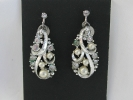 Star Filigree Pearl Leverback Clip On Earrings $7.95