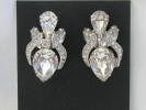Weiss Rhinestone Clip On Earrings $9.95