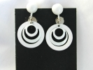 White Enamel Dangle Leverback Clip On Earrings $4.95