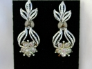 Vintage Rhinestone Dangle Screw Back Earrings $4.95