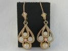Vintage Avon Teardrop Cluster Lever Back Earrings $4.95