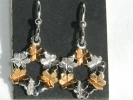 Floral Wreath Drop Hook Earrings $7.95