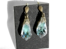 German Crystal Teardrop Hook Earrings $7.95