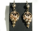 Gold Grape Cluster Hook Earrings $4.95