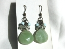 Jadeite Dangle Hook Earrings $9.95