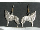 Sterling Silver Wolf Hook Earrings $19.95