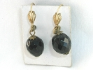 West German Onyx Drop Hook Earrings $14.95