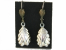 West German Leaf Drop Hook Earrings $4.95