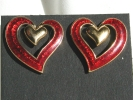 Avon Double Heart Post Earrings $9.95