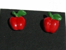 Avon Red Apple Post Earrings $4.95