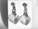 Crystal Heart Dangle Post Earrings $9.95