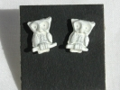 Enamel Owl Stud Post Earrings $2.95