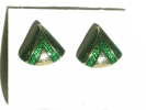 Gold and Enamel Triangle Fashion Post Earrings $9.95