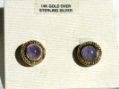 Gold over Sterling Amethyst Post Earrings $7.95