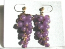 Grape Cluster Post Earrings $7.95