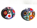 Hand Painted Geometric Post Earrings $7.95