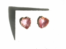 Pink Crystal Heart Post Earrings $2.95