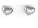 Silver Heart Stud Post Earrings $4.95