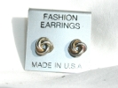 Silver Knot Post Earrings $2.95