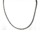 925 Silver 3mm Diamond Cut Rope Chain Necklace $9.95