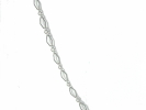 925 Silver Diamond Link Chain Necklace $9.95