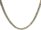 925 Silver and Gold Rope Chain Necklace $29.95
