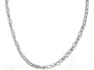 925 Silver Hollow Rope Chain Necklace $19.95