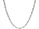 925 Silver Twisted Link Chain Necklace $19.95