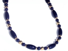 Blue and Gold Bead Fashion Necklace $14.95
