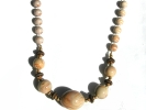 Brown Bead Fashion Bib Necklace $4.95