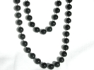 Endless Black Bead Fashion Necklace $4.95