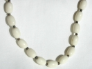 Oval White Bead Fashion Necklace $4.95