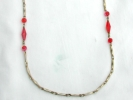 Gold and Red Fashion Station Necklace $9.95