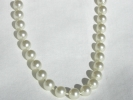 White Bead Fashion Necklace $4.95