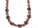 Pink Glass Lampwork Bead Necklace $14.95