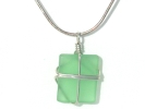 925 Italy Chrysoprase Pendant Necklace $19.95
