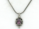 925 Silver Amethyst Pendant Necklace $14.95