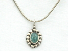 925 Silver Aquamarine Pendant Necklace $14.95