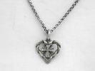 925 Silver Cross Heart Pendant Necklace $19.95