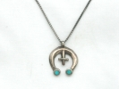 925 Silver Horseshoe Pendant Necklace $14.95