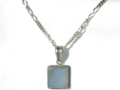 925 Silver Larimar Pendant Necklace $69.95