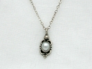 925 Silver Pearl Solitaire Pendant Necklace $34.95