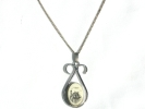 925 Silver Scrimshaw Ship Pendant Necklace $14.95